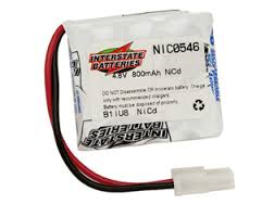 4.8V 800MAH NICAD Battery