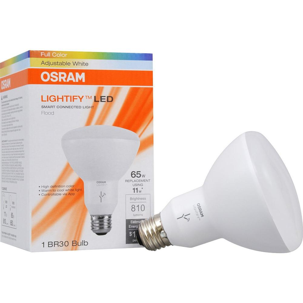 SMART+ Sylvania BR30 LED Full Color bulb - 65W Equivalent - 11W